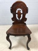 Small carved wooden chair in the ecclesiastical style (A/F)