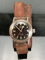 "ORIOSA wrist watch Swiss 30 jewel movement marked ""Superautomatic INCABLOC"" black Dial with Luminous"