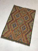 Chobi Kilim rug approx 118cm x 82cm