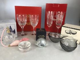 Collection of Glassware to include Royal Brierley, Stuart Caithness and Wedgwood.