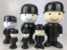 Collection of Homepride flour men, in various sizes, the largest approx 21cm, some A/F
