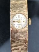 9ct. Gold Cased Ladies Wristwatch by Accurist with 9ct gold strap, approx 23.1 gms. excluding