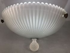 Art Deco Frosted Glass ceiling shade approx 39cm diameter