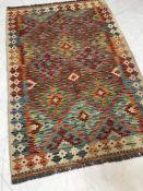 Chobi Kilim rug, approx 130cm x 87cm