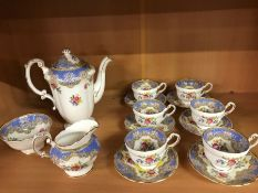 Small Paragon tea set to include six cups and saucers, teapot, milk jug and sugar bowl, in the '