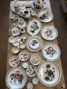 Collection of Portmeirion china in 'The Botanic Garden' design
