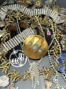 Good collection of costume jewellery to include cufflinks, necklaces etc