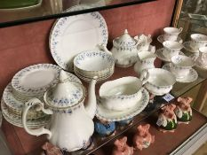 Collection of Royal Albert 'Memory Lane' dinner and tea ware, teapot lid (A/F)
