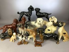 Large collection of Cooperware dogs to include Poodle, Red Setter, Yorkshire Terrier, Old English