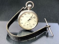 Silver coloured Pocket watch by West End Watch Co, marked to dial Imperatror SWISS MADE engraved