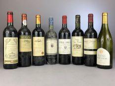 Collection of eight bottles of vintage wine: Chateau Lagrange Pomerol 2001, La Fleur Des Ducs