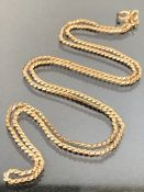 9ct Gold chain approx 54cm long and 6g