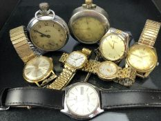 Collection of Vintage watches to include Longines, PREXA, Sekonda and two pocket watches (one with a