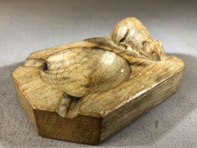 Original Robert Mouseman Thompson ashtray approx 10 x 7.5cm
