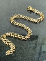9ct Gold Chain hallmarked with circcular links 48cm long and 11.4g