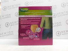 1 BOXED 60 (APPROX) DEPEND UNDERWEAR DRY 8 FOR WOMEN SIZE S/M RRP£44.99