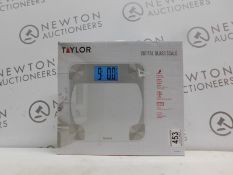 1 BOXED TAYLOR DIGITAL GLASS SCALE RRP £29.99