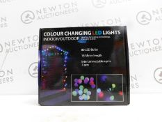 1 BOXED INDOOR/OUTDOOR COLOUR CHANGING LED DECORATIVE LIGHTS RRP £42.99