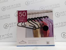 1 BOXED SET OF APPROXIMATELY 50 NON SLIP HANGERS RRP £39.99