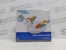 1 BOXED POLYGROUP SUMMER WAVES GIANT UNICORN LOUNGE RRP £29.99