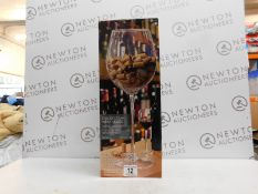1 BOXED DECORATIVE WINE GLASS 60CM TALL RRP £99