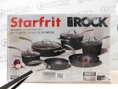 1 BOXED STARFRIT THE ROCK 10 PIECE (APPROX) NON-STICK COOKWARE PAN SET RRP £149.99