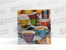 1 SIGNATURE 6 PIECE (APPROX) LARGE MULTI-COLOURED MUGS RRP £34.99