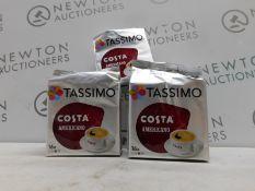 1 SET OF 6 TASSIMO COSTA AMERICANO COFFEE PODS RRP £39.99