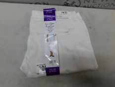1 JESSICA SIMPSION WHITE ROLLED CROP SKINNY JEANS SIZE 14/3 RRP £39