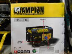 1 BOXED CHAMPION 196CC CPG3500 50HZ 120/240V PETROL GENERATOR RRP £349.99