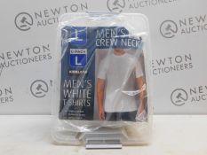 1 SET OF 4 MENS KIRKLAND SIGNATURE HEAVYWEIGHT COTTON T-SHIRTS SIZE L RRP £19
