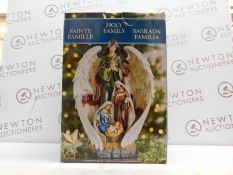 1 BOXED 18 INCH (45.7 CM) RESIN HOLY FAMILY AND ANGEL TABLE TOP DECORATION RRP £79