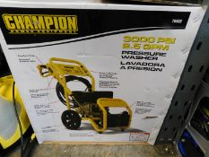1 BOXED CHAMPION 3000 PSI PETROL HIGH PRESSURE WASHER RRP £499