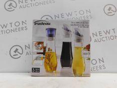 1 BOXED SET OF 3 TRUDEAU OIL & VINEGAR BOTTLES RRP £29.99