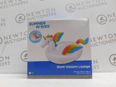 1 BOXED POLYGROUP SUMMER WAVES GIANT UNICORN LOUNGE RRP £29.99