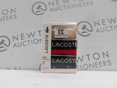1 BOXED MENS LACOSTE 2 PACK COTTON STRETCH BOXERS SIZE M RRP £39