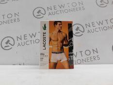 1 BOXED MENS LACOSTE 3 PACK COTTON STRETCH BOXERS SIZE L RRP £39