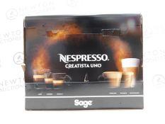 1 BOXED NESPRESSO BY SAGE CREATISTA UNO SNE500BKS4GUK1 COFFEE MACHINE RRP £399
