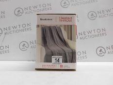 1 BOXED BROOKSTONE HEATED THROW 127 X 152 CM RRP £39.99