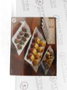 1 BOXED OVER & BACK AMELIA PIECE SERVING PLATTER RRP £29 (1 IN BOX, NEW)
