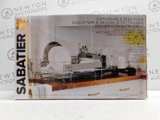 1 BOXED SABATIER EXPANDABLE DISH RACK RRP £44.99
