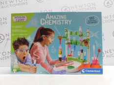1 BOXED CLEMENTONI PLAY-AMAZING CHEMISTRY-SCIENCE LABORATORY AND EXPERIMENT KIT RRP £39.99