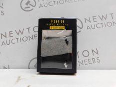 1 BOXED POLO RALPH LAUREN 3PC CLASSIC COTTON CREWS T SHIRTS SIZE XL RRP £29.99