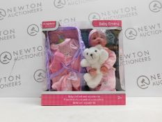 1 BOXED 18 INCH (45.7 CM) BABY EMMA DOLL WITH 5 ACCESSORIES AND PLUSH TOY PLAYSET RRP £39