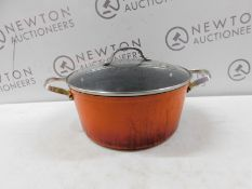 1 STARFRIT THE ROCK 28CM/ 6.9L STOCK POT WITH LID RRP £49.99