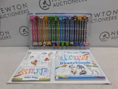 1 PACK OF YOU CAN DRAW DRAWING SET WITH SKETCHBOOK, COLOURED PENCILS AND ERASERS RRP £9.99