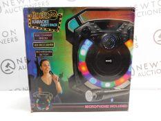 1 ROCKJAM GO LIGHTSHOW BLUETOOTH RECHARGEABLE KAROAKE SPEAKER RRP £64.99