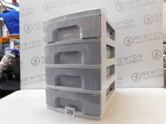 1 REALLY USEFUL 4-TIER STORAGE DRAWERS RRP £49.99