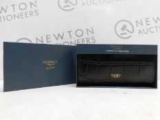 1 BOXED OSPREY WOMENS BLACK LEATHER MATINEE PURSE RRP £34.99