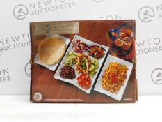 1 BOXED OVER & BACK AMELIA PIECE SERVING SET RRP £29 (2 IN BOX, NEW)
